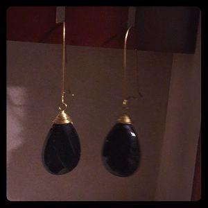 Black gold earrings